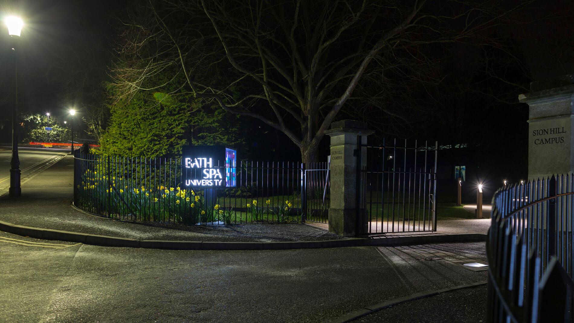 CGI Visualisation Bath Spa University sign