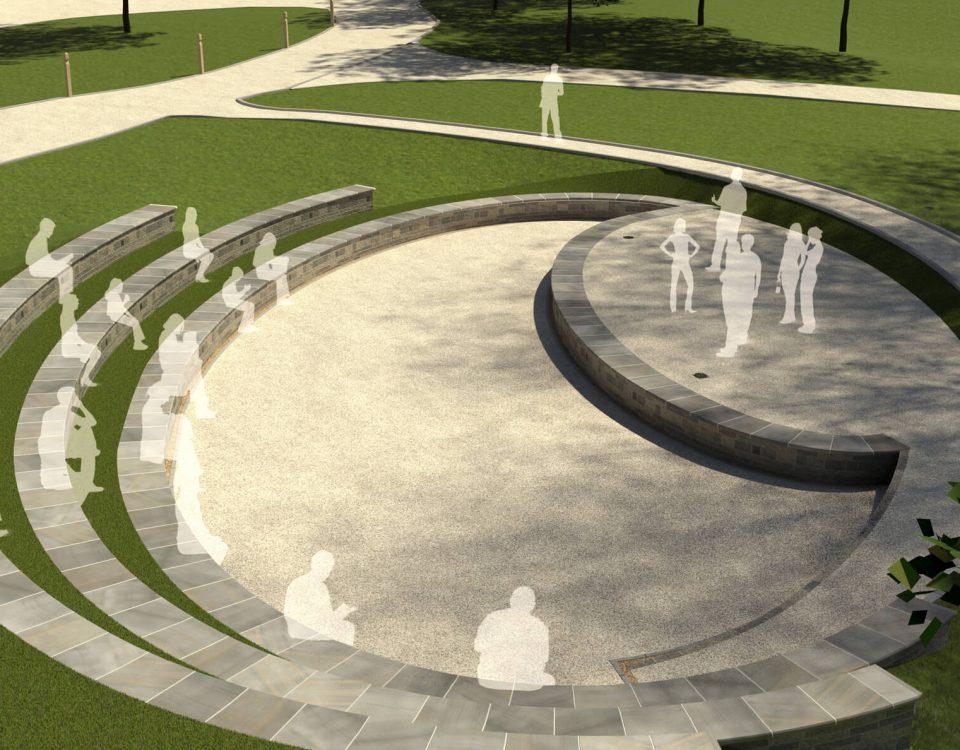 CGI Visualisation Bath Spa University Amphitheatre, Bath