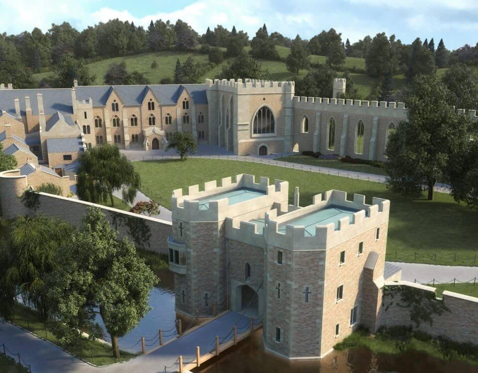 Bishops Palace Wells CGI