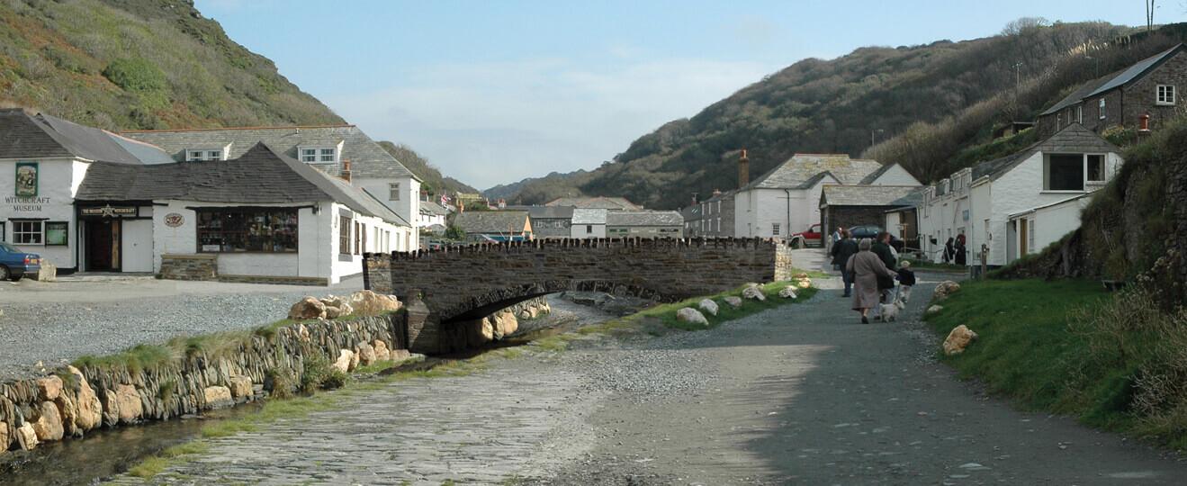 Visually Verified View Boscastle Lower Bridge